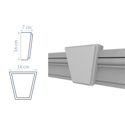Blok zdobniczy kątowy B2